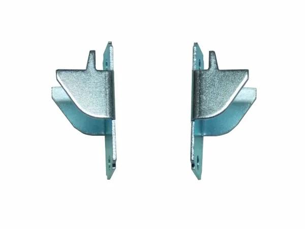 kirsch lockseam double curtain rod brackets with screws 1 pair
