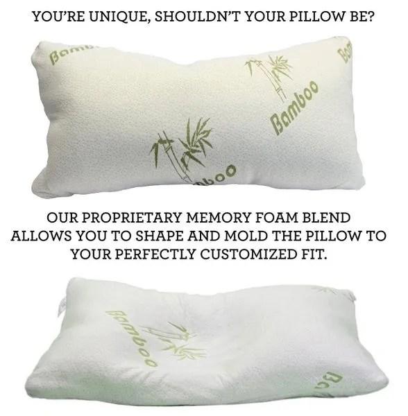 comfort bamboo pillow memory foam pillow