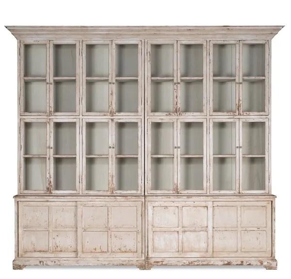 Farmhouse Bookcase Display Cabinet White Martelle