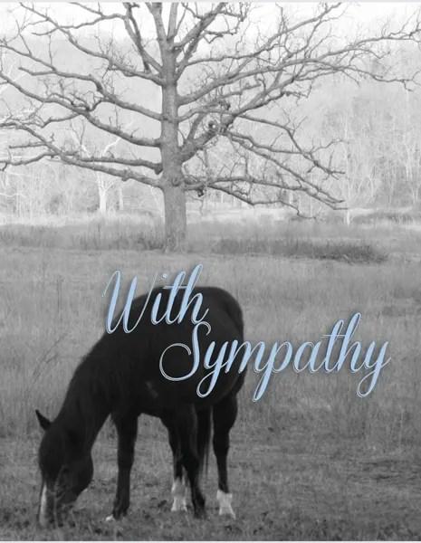 Equine Horse Sympathy Cards Horse Hollow Press