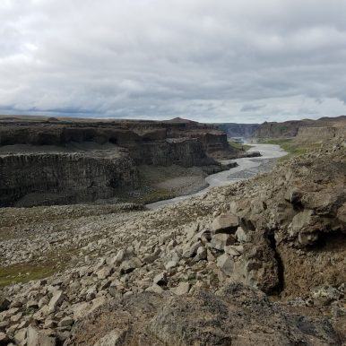 Dettifoss Waterfall and canyon