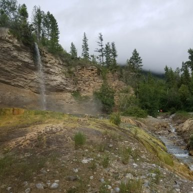 Waterfall Above Fairmont Hot Springs