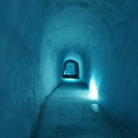 Into the Glacier tunnel