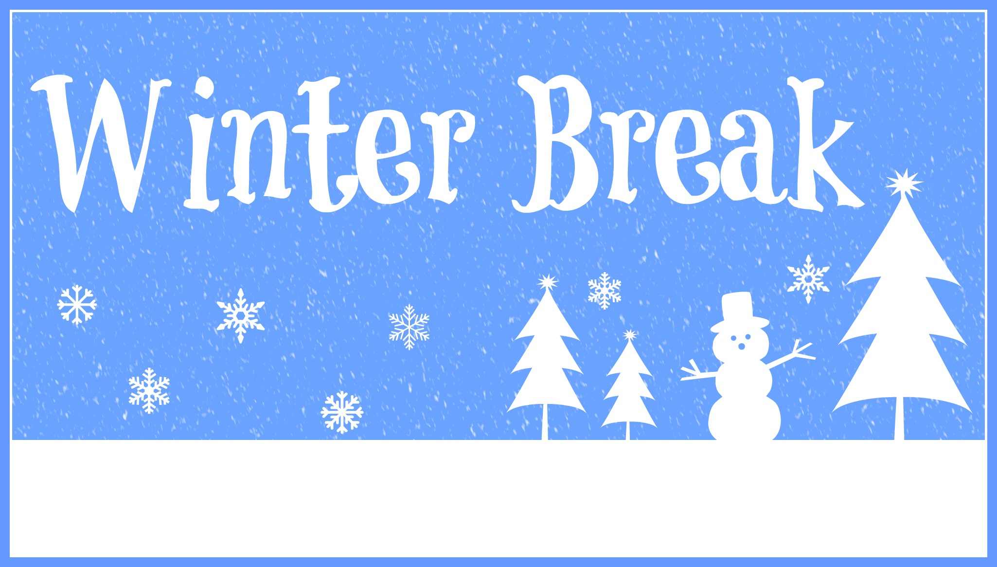 Image result for winter break half day december 22