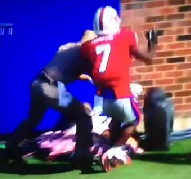 texas a&m mascot saved during football game
