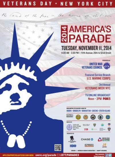 veterans day america's parade