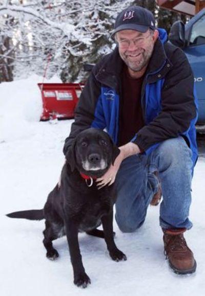 blind dog lost in alaska