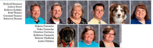 service dogs in Blaine High School yearbook
