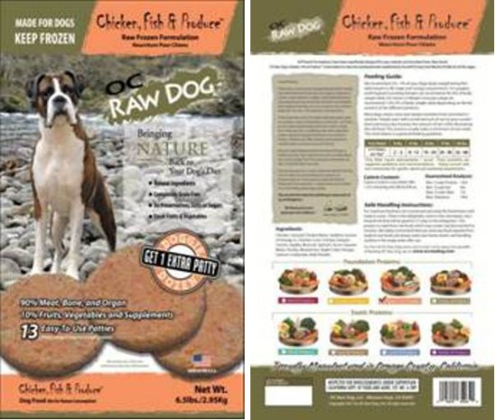 OC Raw Dog Food recall Sept 2015