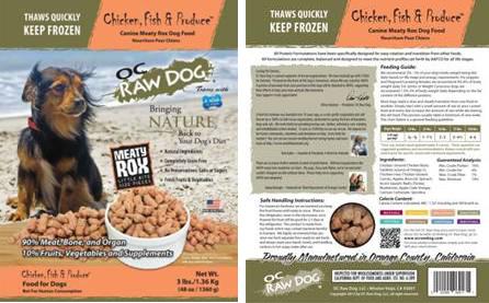 OC Raw Dog Meaty Rox recall