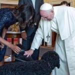 Pope Francis Meets Bo and Sunny Obama
