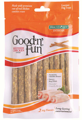 Good 'n' Fun Chicken Sticks recall package