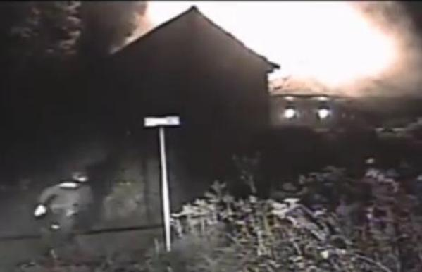 Wisconsin police officer saves dog in burning house