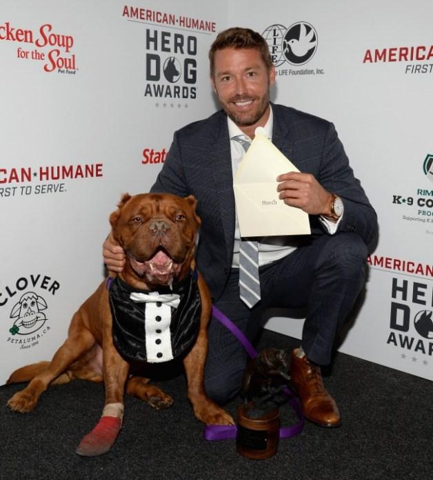 hero dog Hooch and Zach Skow