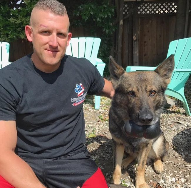 police officer saves k-9 partner's life