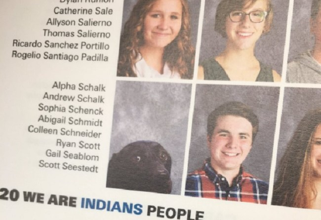 service dog photo in 2017 yearbook