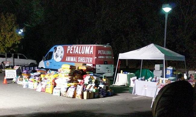 Petaluma Animal Services helps California wildfires victims