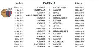 Calendario del Catania 2017/18: tutte le novità e news