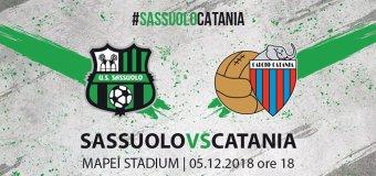 Sassuolo – Catania : Fateci sognare!