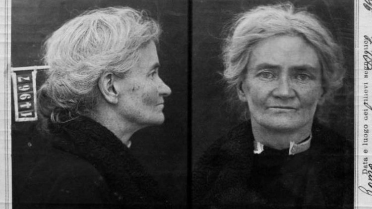 Violet Gibson dopo l'arresto