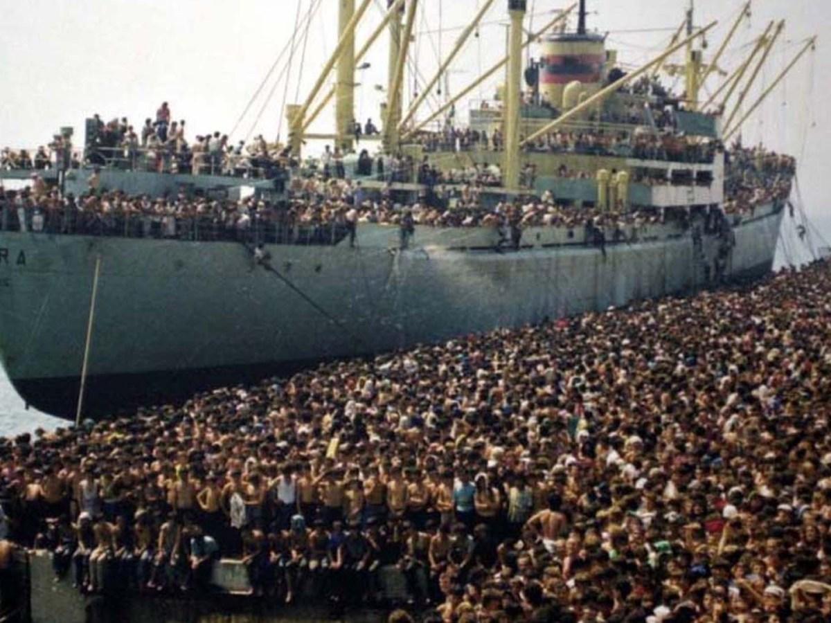 La nave Vlora e i profughi albanesi in Italia