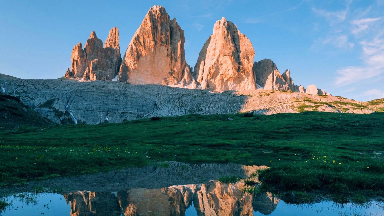 Le Dolomiti, nelle Alpi del Trentino in Italia