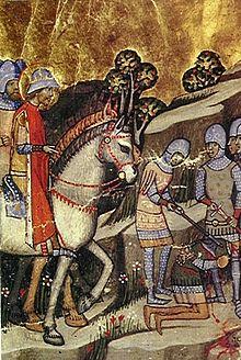 Execuţia lui Koppany, prezentată în Cronica Pictată
