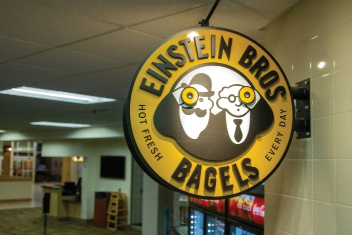 Einstiens Bros Bagels sign in PSUB