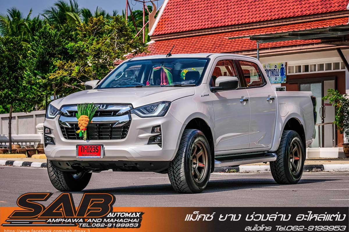 all new isuzu dmax white sab red 04