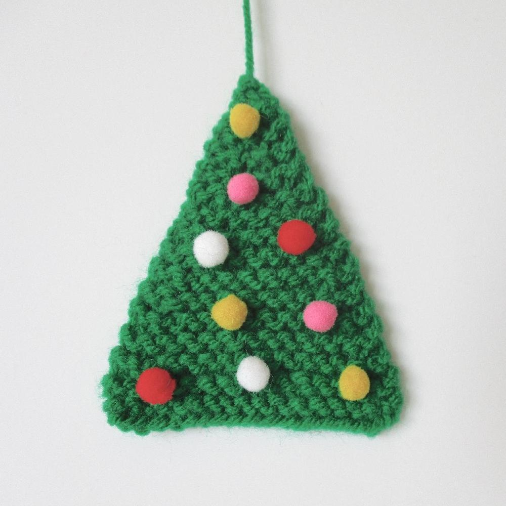 Easy Christmas Tree Knitting Pattern By Amanda Berry