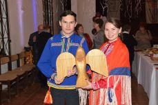 Vitalii Sigiletov és Larisza Miljahova hanti vendégek