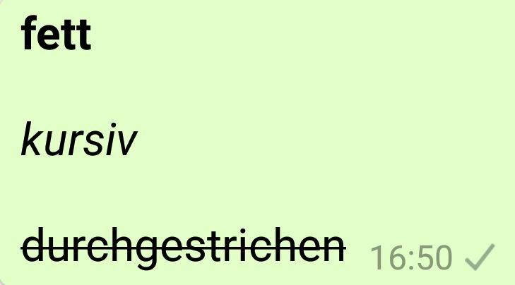 Whatsapp Text Formatieren Kursiv Fett Durchgestrichen It