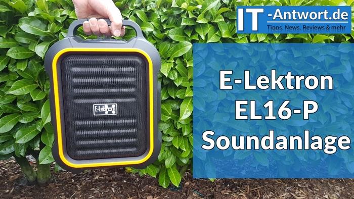 e lektron el16 p die neue kompakte soundanlage mit licht. Black Bedroom Furniture Sets. Home Design Ideas