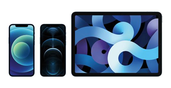 iPhone 12 Pro Max, iPhone 12 mini und HomePod mini