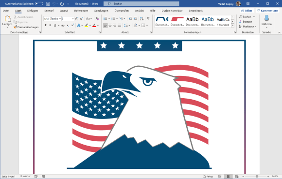 American Eagle and Flag Flyer Design Templates