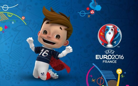 Maskottchen der UEFA EURO 2016 als Wallpaper