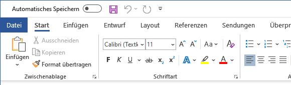 Office 2019 Startbildschirm deaktivieren