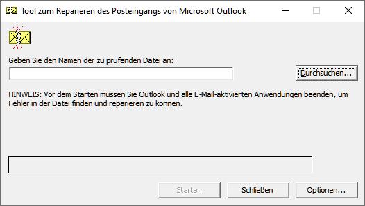 Outlook 2019 oder Outlook 365 PST-Datei reparieren