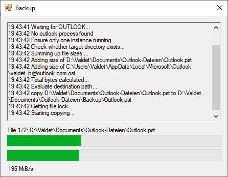 Outlook 2019 PST-Datei automatisch sichern