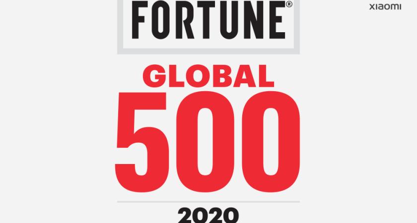 Xiaomi rankad på 422a plats på Fortune Global 500-listan för 2020