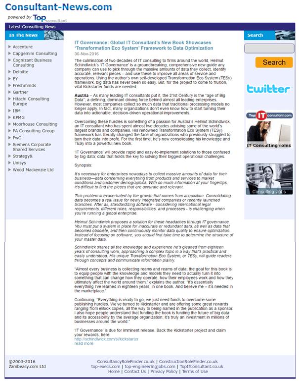 Consultant News - Press Release
