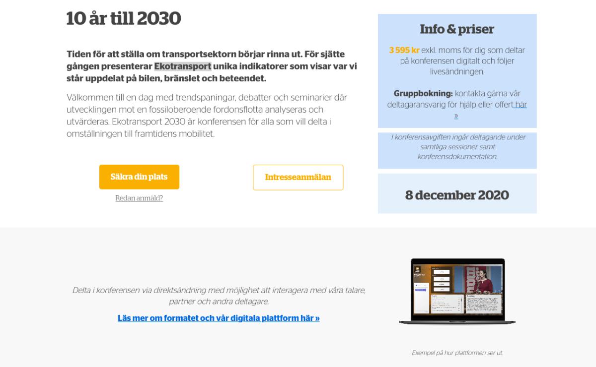 Ekotransport 2030 Digital konferens 4