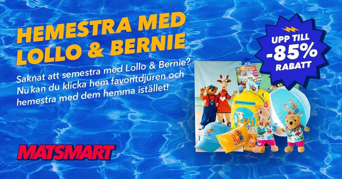 Matsmart.se samarbetar med Ving: Lollo & Bernie-produkter till Matsmart 1