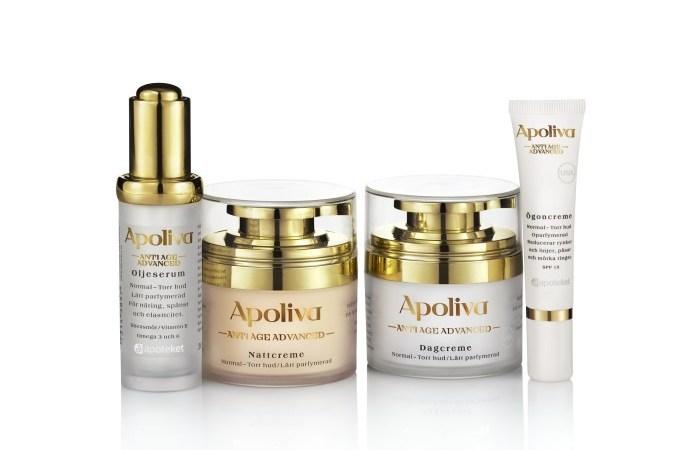 Nu lanserar Apoteket en ny anti-age-hudvårdserie från Apoliva