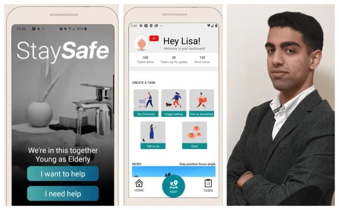 Tvåa i global tävling – nu vill TIS-eleven Shariq hjälpa människor i coronakrisen med sin app
