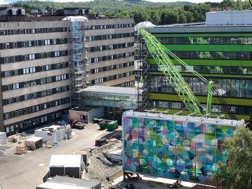 Spektakulärt lyft på nya barnsjukhuset i Göteborg 1