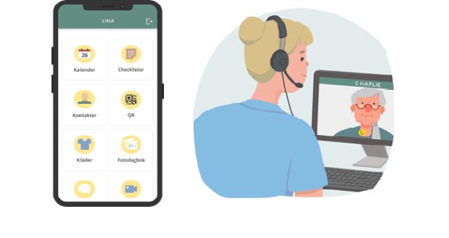 Det digitala hjälpmedlet Wellbee underlättar för personer i behov av kognitivt stöd