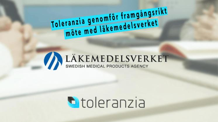 Toleranzia genomför framgångsrikt möte med läkemedelsverket