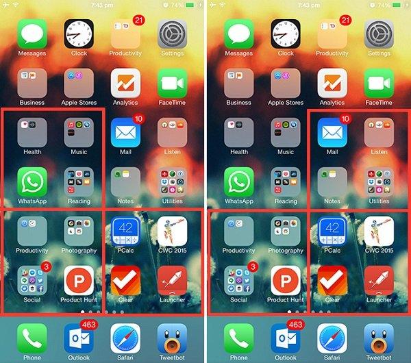 iPhone 6 Plus оптимизация домашнего экрана