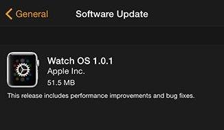 обновление apple watch os 1.0.1